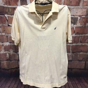 NAUTICA Yellow Short Sleeve Polo Shirt XL